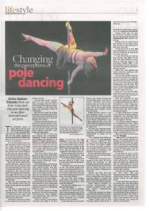 Changing the perceptions of pole dancing